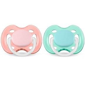 Philips Avent Freeflow sut 0-6 mdr. 2-pak - Pink/grøn