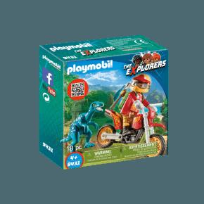 Playmobil Motorcykel og Raptor