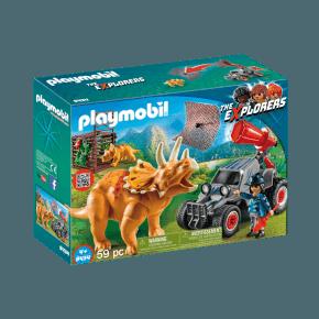 Playmobil ATV med Triceratops