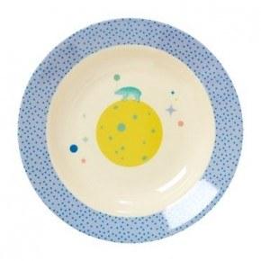 Rice Dyb tallerken - Universe Print - Blå