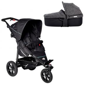 TFK Joggster Trail Klapvogn Sort + Quickfix Carrycot Premium Antracit