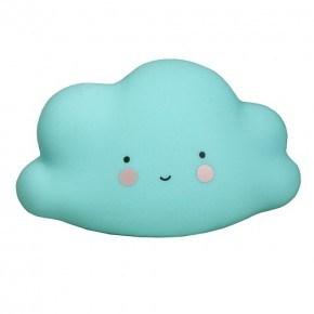 A LITTLE LOVELY COMPANY Mini Cloud Light Blue Vågelys