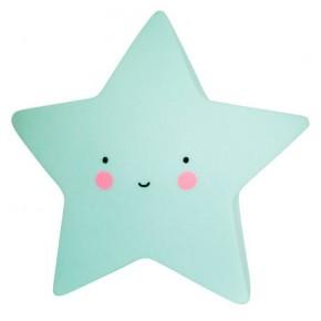 A LITTLE LOVELY COMPANY Mini Star Light Mint Vågelys