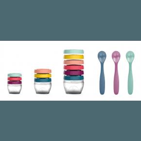 Babymoov Sæt med madbøtter og skeer