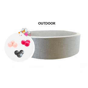 BALLPOOL - Udendørsboldbassin 100cm - Light grey