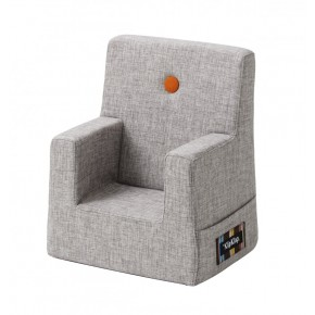 By KlipKlap Kids Chair - Grå m Orange Knap