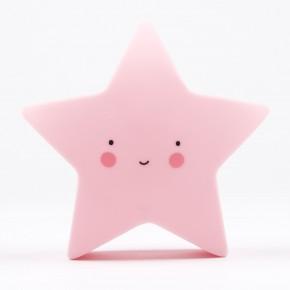 A LITTLE LOVELY COMPANY Mini Star Light Pink Vågelys