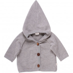 Müsli Woolly fleece jakke - Pale Greymarl