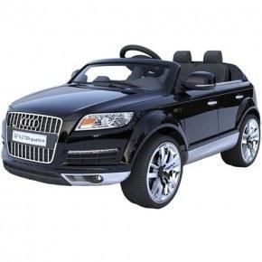Ride Ons Audi Q7, Sort - Med fjernbetjening.