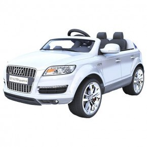 Ride Ons Audi Q7, hvid - Med fjernbetjening.