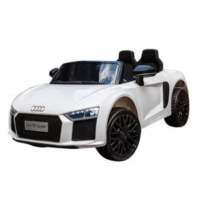 Ride Ons Audi R8 - Hvid med fjernbetjening