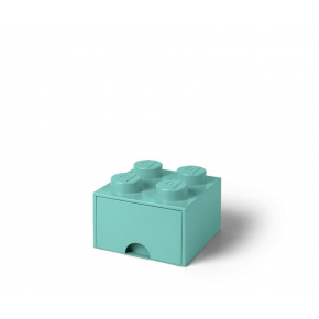 LEGO Brick 4 Opbevaringsskuffe - Aqua Light Blue