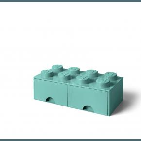 LEGO Brick 8 Opbevaringsskuffe - Aqua Light Blue