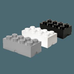 LEGO Opbevaringskasse 8 mix - Grå