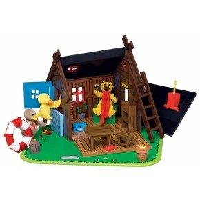 Bamses Hus i træ med figurer - DR