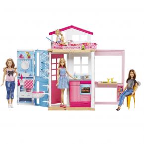 Barbie stort dukkehus med dukke