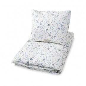 Cam Cam sengetøj - Leaves blue - 140x200 cm.