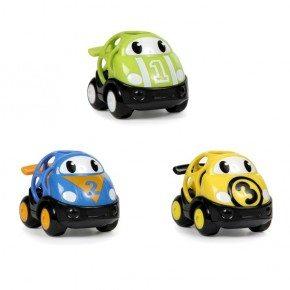 Oball biler (3pak) i tre farver