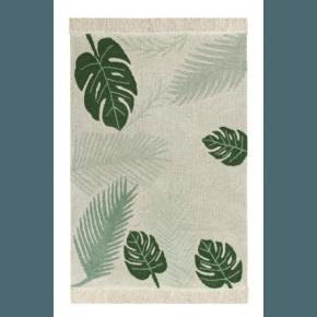 Lorena Canals tæppe m. blade 140x200 cm. - Tropical Grøn