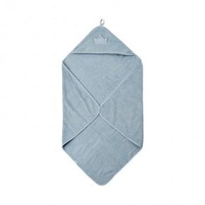 PIPPI Organic håndklæde med hætte, 83x83 cm. - Celestial Blue