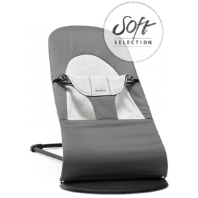BABYBJÖRN Balance Soft bouncer - Dark Grey/Grey, Cotton/Jersey