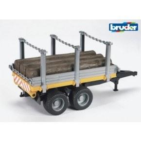 Bruder - Skovvogn med 3 træstammer (1:16)