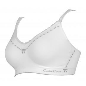 Cache Coeur Lingerie Illusion Amme BH, Str. S – Hvid