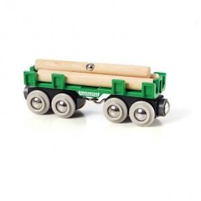 BRIO Togvogn med tømmer Legetøj