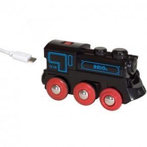BRIO Genopladeligt lokomotiv m. mini USB og lygte