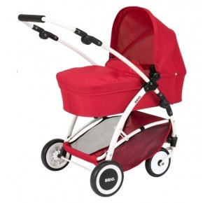 BRIO Spin dukkevogn m/drejehjul, rød - 24900000