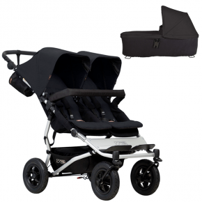Mountain Buggy Double Duet V3 Klapvogn + Carrycot Plus V3