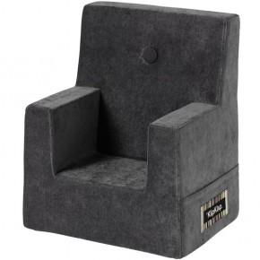 By Klip Klap Kids Chair - Antracit Grey Velour