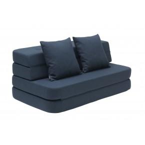 By KlipKlap KK 3 Fold Sofa - Mørk Blå m Sorte Knapper