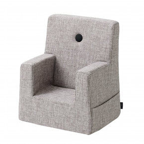 By KlipKlap Kids Chair - Grå m Grå Knap