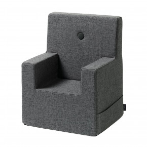 By KlipKlap Kids Chair XL - Blågrå m Grå Knap