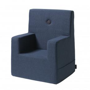 By KlipKlap Kids Chair XL - Mørk Blå m Sort Knap