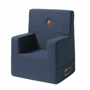 By KlipKlap Kids Chair XL - Mørk Blå m Orange Knap