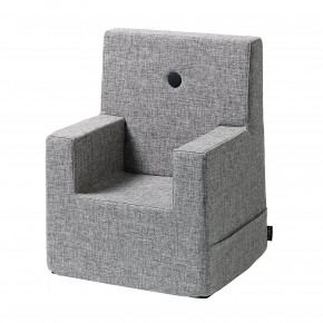 By KlipKlap Kids Chair XL - Grå m Grå Knap
