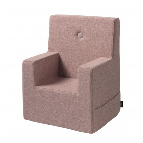 By KlipKlap Kids Chair XL - Soft rose m. rose knap
