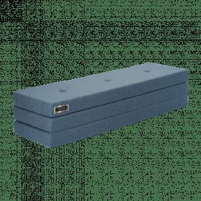 By KlipKlap Jubilæum KK 3 Fold Madras - Blå m. blå knapper