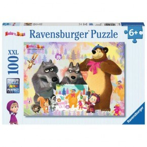 Ravensburger -  Masha and the Bear (100 pcs) Puslespil