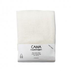 CAMA Copenhagen Frottelagen til puslemadras - Hvid