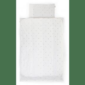 Childhome sengetøj 100 x 140 cm - guld prikker