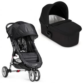 Baby Jogger City Mini Single - Black/grey med Deluxe pram - Black