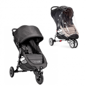 Baby Jogger City Mini GT - Charcoal Denim + Regnslag