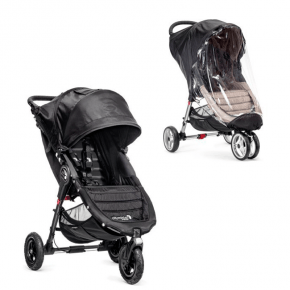 Baby Jogger City Mini GT - Sort + Regnslag