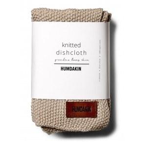 HUMDAKIN Knitted dishcloth 3-pack - Light stone
