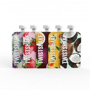 Twistshake 5x Squeeze Bag til babymad - 100ml