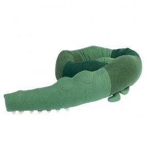 Sebra Strikket pude, Sleepy Croc - Grøn