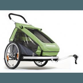 CROOZER - Cykelanhænger, Kid 1, grøn